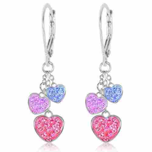 Chanteur Crystal Hearts Earrings