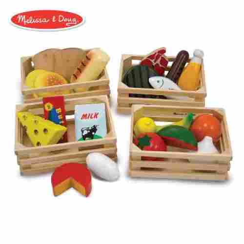 melissa and doug food groups wooden toys for kids and toddlers