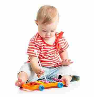 music toy with baby