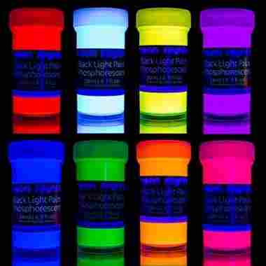 Glow in the Dark Set of 8 by neon nights