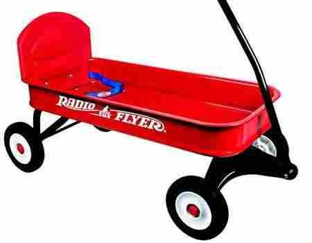 This is a wagon meant for wheeling the kids around.