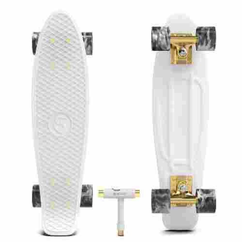 wonnv retro mini cruiser 22 kids skateboard