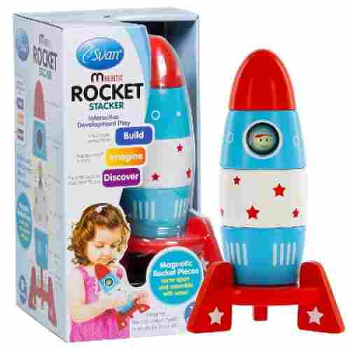 Wooden Stacker Space Rocket